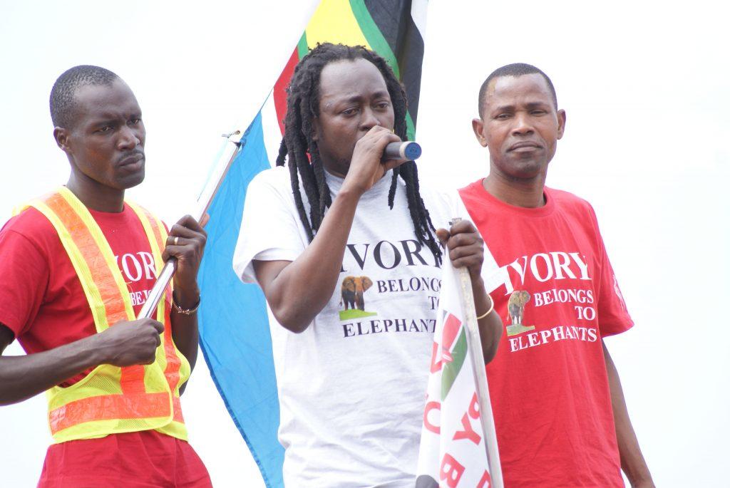 "King of Bongo "" Afande Sere"" addressing crowd in Morogoro"