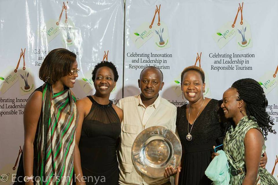 Jim Nyamu standing by Grace Ndiritu CEO Ecotourism Society of Kenya